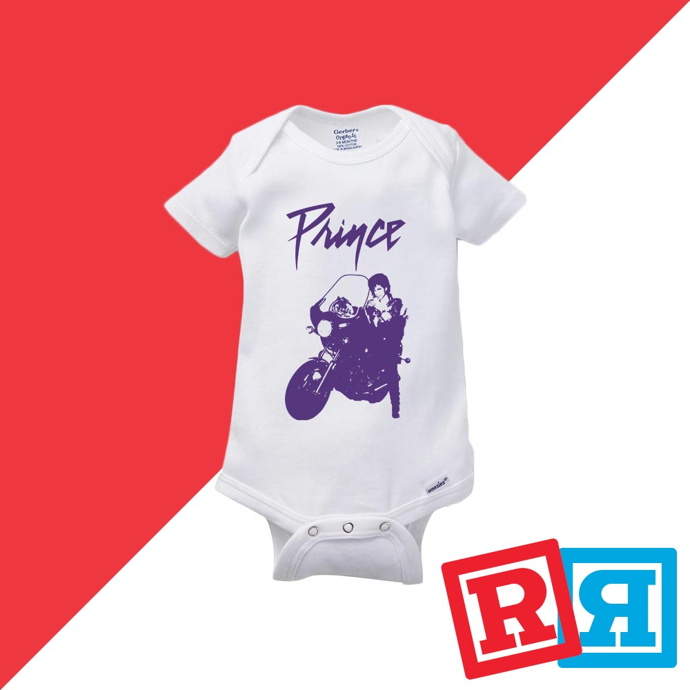 Prince Baby Onesie Purple Rain 80/'s Unisex Gerber Organic Cotton Bodysuit